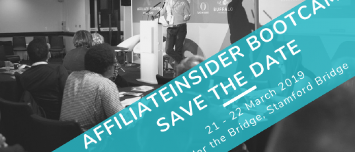 AffiliateINSIDER Bootcamp SAVE THE DATE