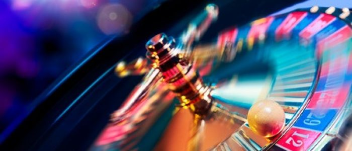 44405629 - high contrast image of casino roulette in motion